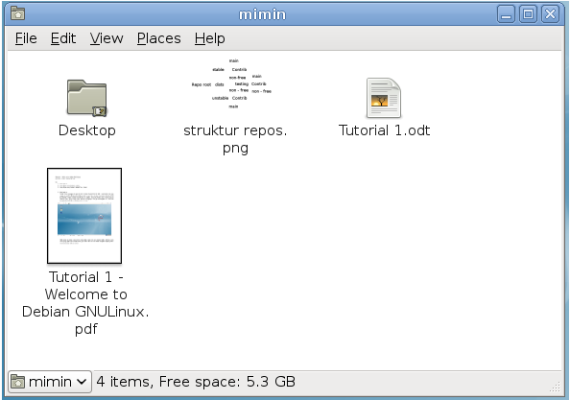 Debian Style file manager